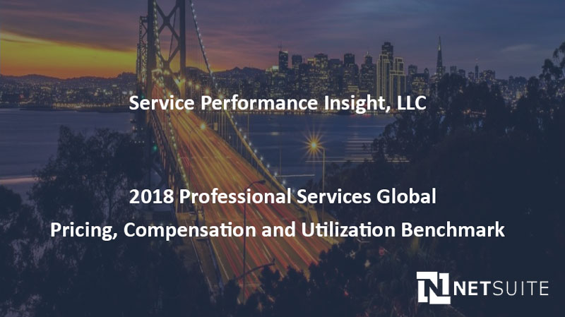 2018 Professional Services Global Pricing, Compensation and Utilization Benchmark